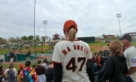 San Francisco Giants spring training game in Scottsdale