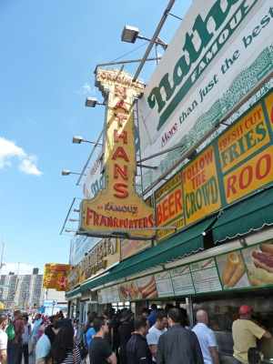 Nathans Hot Dogs at Coney Island