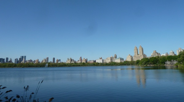 New York City reservoir in Central Park