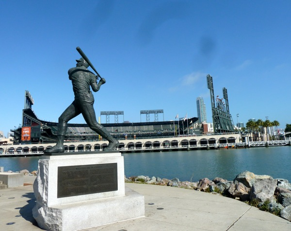 McCovey statue near AT&T park