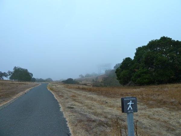 Big Dish on misty August morning