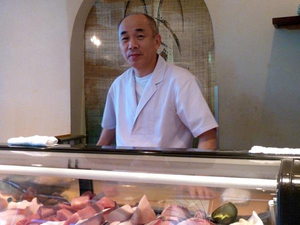 Toshi Sakuma at Kaygetsu restaurant